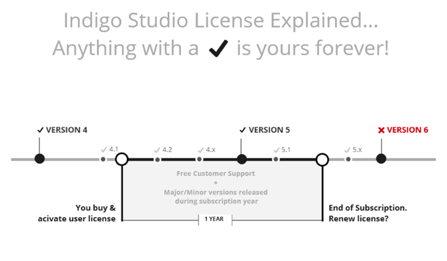 Explaining the perpetual license model