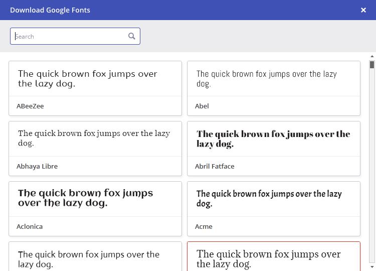 Download Google Fonts