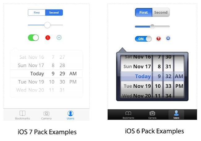 iOS 6 vs. iOS7