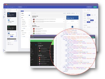 クラウド型ビジュアルエディタでアプリをデザインしてコード生成できる機能の追加