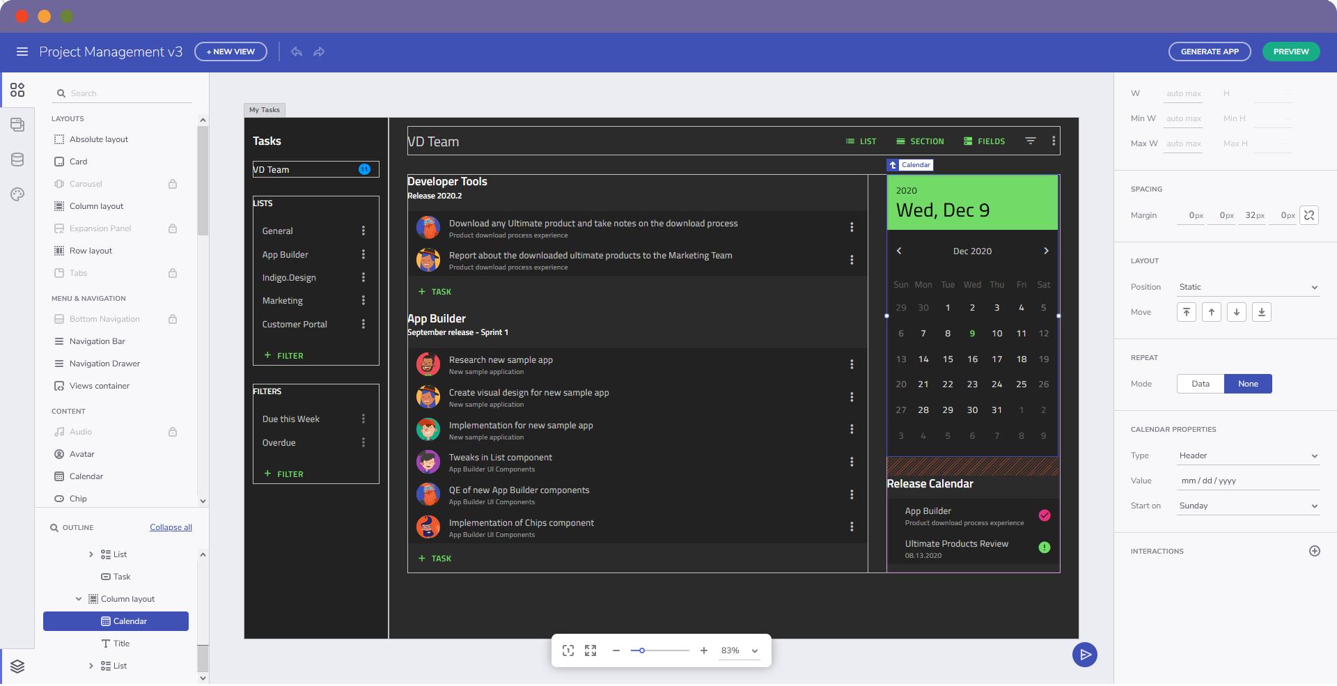 Indigo.Design Web App Builder IDE