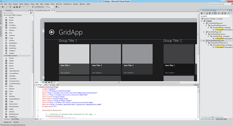 Visual Studio Metro Style