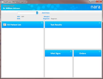 Microsoft Healthcare CRM UI